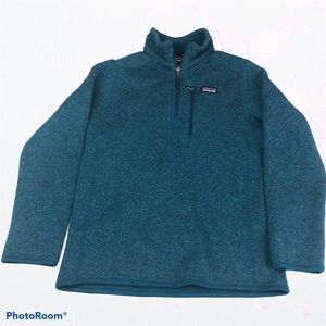 Patagonia Pullover Jacket Knit Collared Warm Kids